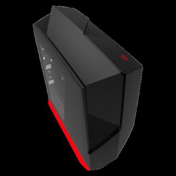Кутия NZXT Noctis 450 Mid Tower, Black + Red