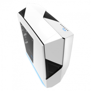 Кутия NZXT Noctis 450 Mid Tower, White + Blue