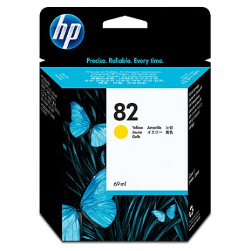 Консуматив HP 82 69-ml Yellow Ink Cartridge за плотер