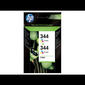 Консуматив HP 344 2-pack Tri-color Original Ink Cartridges за мастиленоструен принтер
