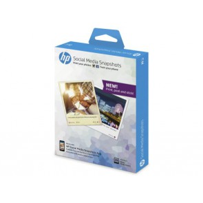 Фото Хартия HP Social Media Snapshots Removable Sticky Photo Paper-25 sht/10 x 13 cm
