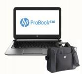 "Лаптоп HP ProBook 430 i3-4010U, 13.3"", 4GB, 500GB + чанта"
