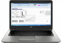 "Лаптоп HP EliteBook 740 G2 Notebook PC, i5-5200U, 14"", 4GB, 128GB, Win 7 Pro 64"