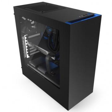 Кутия NZXT SOURCE 340MB-GB MID Tower Black/Blue