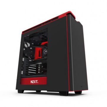 Кутия NZXT H440, Mid Tower, Matte Black / Red