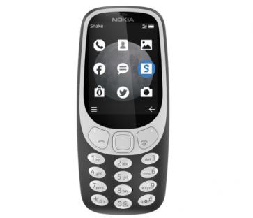 Мобилен телефон NOKIA 3310 3G SS CHARCOAL