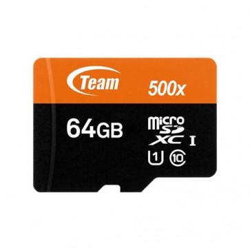 Флаш карта TEAM 64GB SDXCM+AD UHS-I CL10