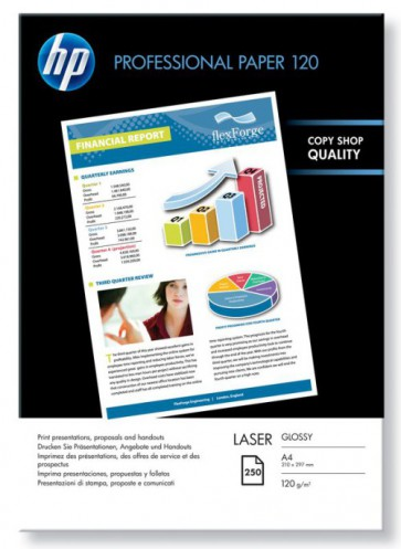 Консуматив HP Professional Glossy Laser Paper 120 gsm-250 sht/A4/210 x 297 mm