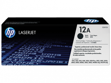 Консуматив HP 12A Black LaserJet Toner Cartridge 3a Лазерен Принтер