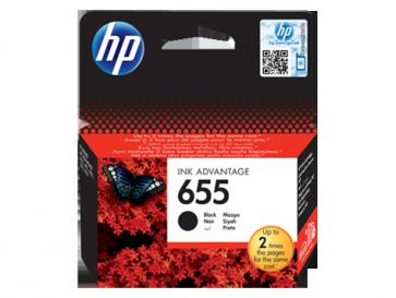 Консуматив HP 655 Black Original Ink Advantage Cartridge за мастиленоструен принтер