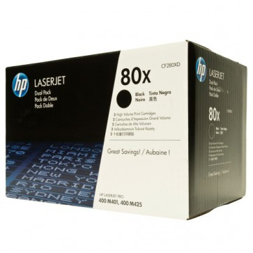 Консуматив HP 80X Black Dual Pack LaserJet Toner Cartridges за лазерен принтер