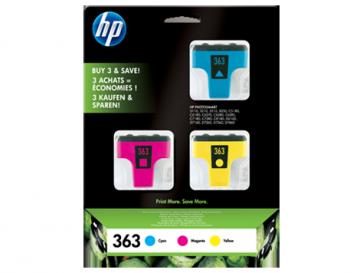 Консуматив HP 363 3-pack Cyan/Magenta/Yellow Original Ink Cartridges EXP