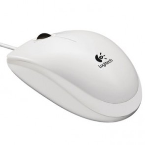 Мишка LOGITECH B100 Optical USB White