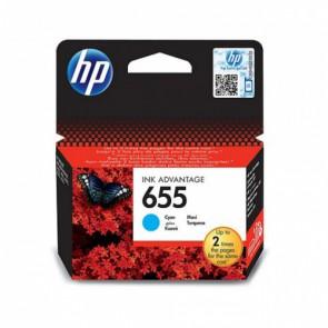 Консуматив HP 655 Cyan Original Ink Advantage Cartridge за мастиленоструен принтер