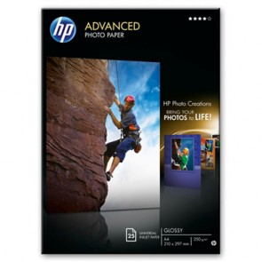 Фото Хартия HP Advanced Glossy Photo Paper-25 sht/A4/210 x 297 mm