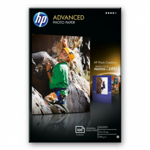 Фото Хартия HP Advanced Glossy Photo Paper-100 sht/10 x 15 cm borderless