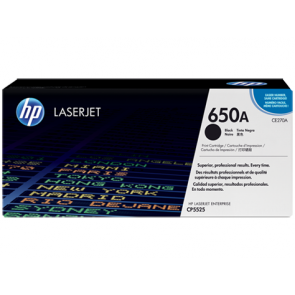 Консуматив HP 650A Black Original LaserJet Toner Cartridge за лазерен принтер