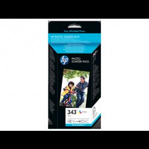 Консуматив HP 343 Series Photo Starter Pack-60 sht/10 x 15 cm EXP
