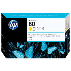 Консуматив HP 80 175-ml Yellow Ink Cartridge EXP
