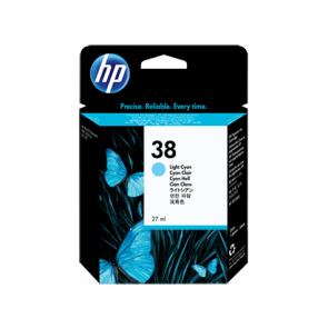 Консуматив HP 38 Light Cyan Pigment Original Ink Cartridge EXP